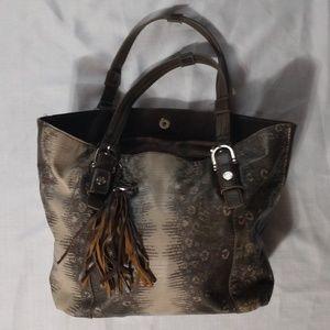 Relic faux snake tassels tote shoulder purse bag